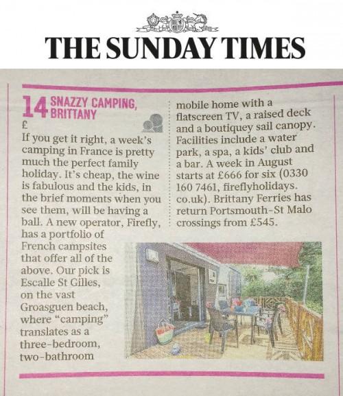 Sunday Times Best 100 Holidays Firefly