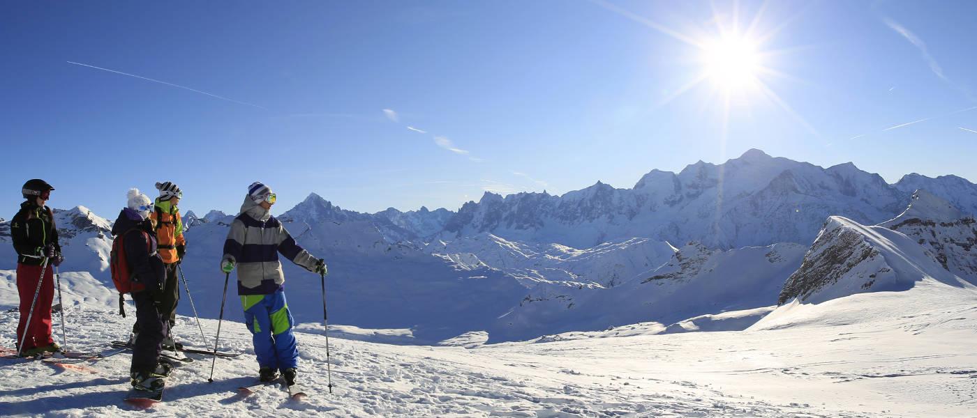 Flaine mont blanc view