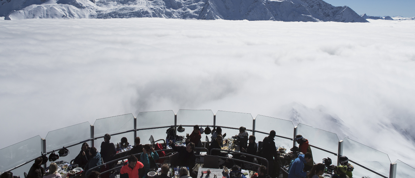 Chamonix lunch above the clouds