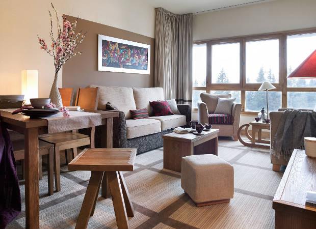 Premium Residence Les Terrasses d'Eos, Flaine, - Apartment Lounge Living Area