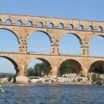 Canoe at Pont du Gard