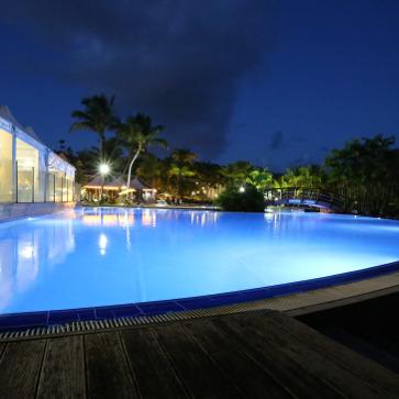 Guadeloupe Sainte Anne Main Pool Night