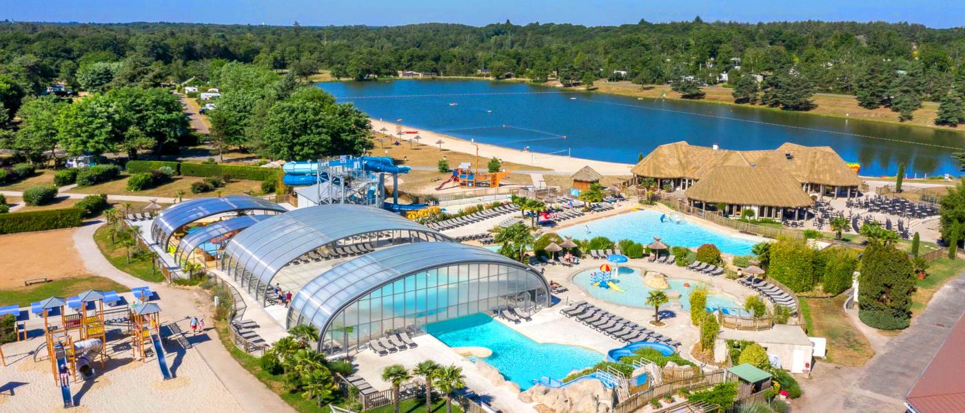 Les Alicourts Pool Lake Aerial 2