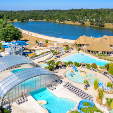 Les Alicourts Pool Lake Aerial 363