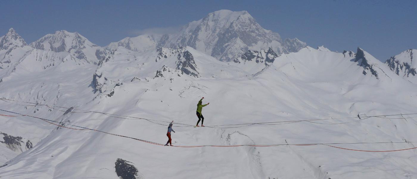 Arc 1800 Slackwire Mont Blanc