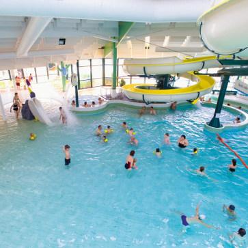 Belle dune indoor pool with waterslide pool