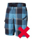 Water shorts long not permitted