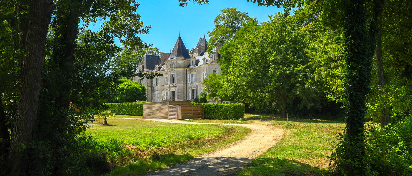 Firefly Holidays Chateau La Foret Approach
