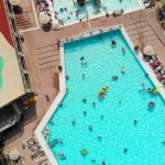 Holiday Green Pool Aerial