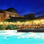 Domaine de Sevenier Pool Restaurant Night