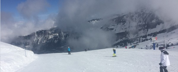 Pistes above Flaine