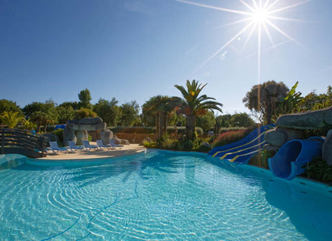 Beg Meil, Camping L'Atlantique - Outdoor Pool With Slides