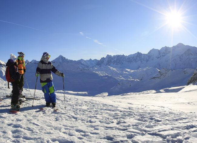 Flaine, Terrasses d'Helios, Mont Blanc View