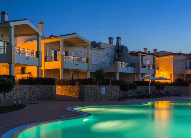 Firefly Holidays Salema Beach Village Pool Night 600h