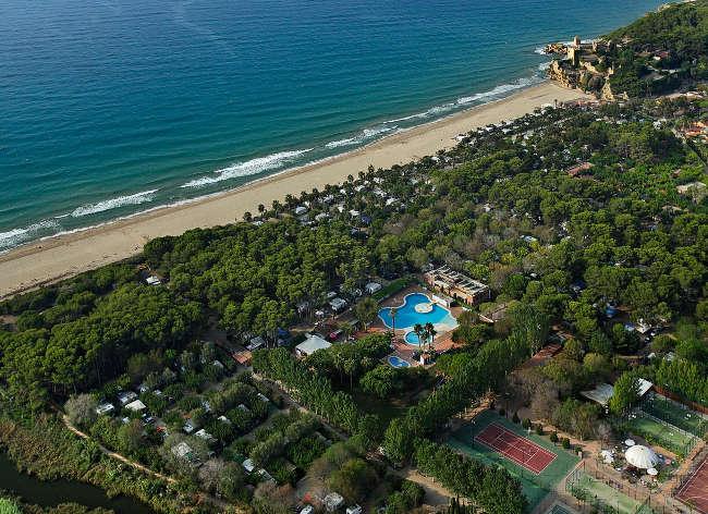 Tamarit Park, Aerial View