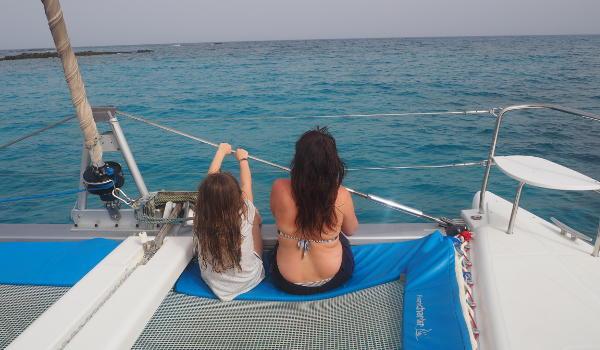 On Los Lobos Catamaran