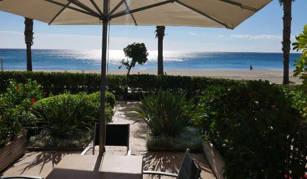 Costa Dorada, View from the Cala Cristal apartment garden
