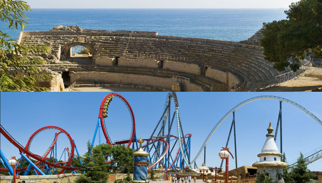 Tarragona Amphitheatre and Portaventura Theme Park