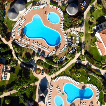 Firefly Holidays Eden Resort Pools Aerial 363