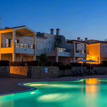 Firefly Holidays Salema Beach Village Pool Night 363