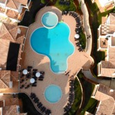 Firefly Holidays Salema Beach Village Pools Aerial 300