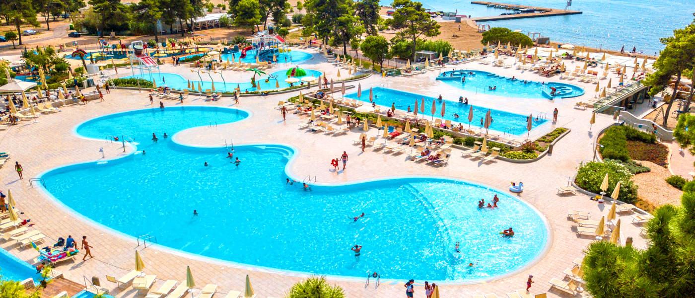 Zaton Resort Pool Aerial 1