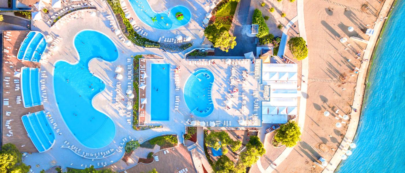 Zaton Resort Pool Aerial 2