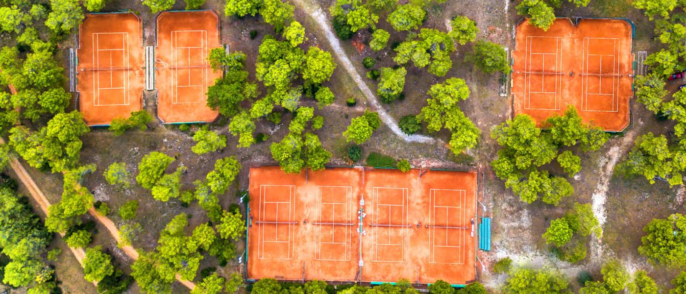 Zaton Tennis Aerial