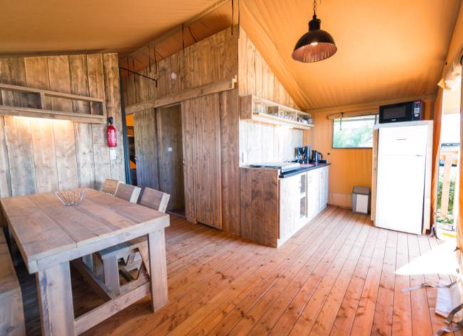 Firefly Holidays Les Sablons Safari Tent Interior 472h
