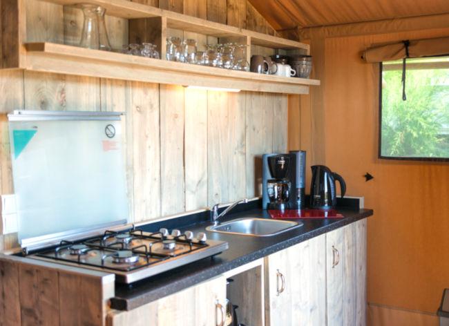 Firefly Holidays Les Sablons Safari Tent Kitchen 472h