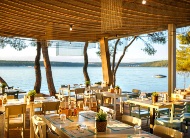 Firefly Holidays Croatia Road Trip Lanterna Restaurant View
