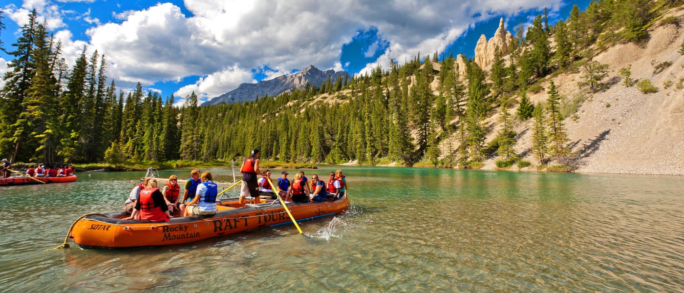 Firefly Holidays Banff Bow River Rafting