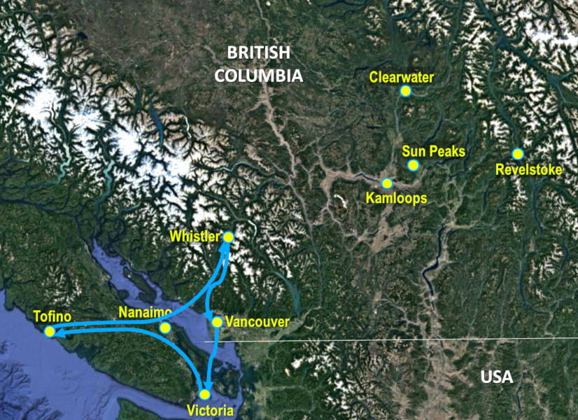 Firefly Holidays West Coast Map
