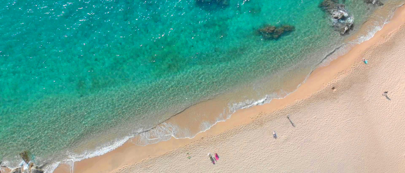 Cala Gogo Beach Aerial 2