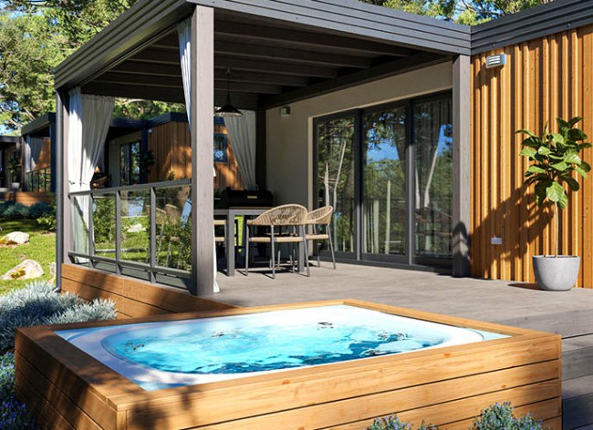 Istra Camping Jacuzzi Villa ext 2 500h